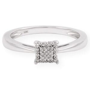 Bague amelia diamant en or blanc