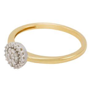 bague fiançaille Flora en or jaune avec des diamant .