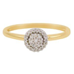 bague Flora avec des diamant en or jaune 10k .