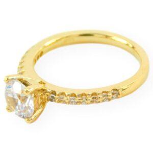 bague de fiançailles constance en or jaune 10k