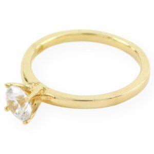 bague de fiançailles solitaire Stella zirconium en or jaune