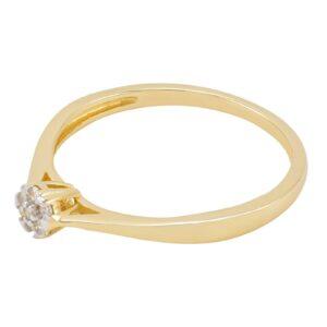 bague de fiançailles Noémie diamant en or jaune 10k