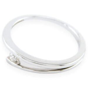 bague de fiançailles solitaire laurie en or blanc