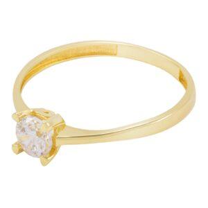 bague de fiançailles solitaire elle en or jaune