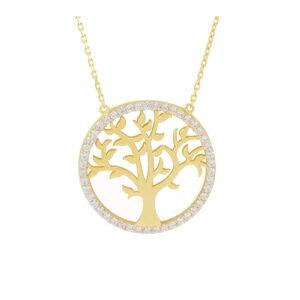 collier arbre de vie en or jaune 10k