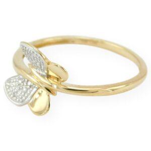 bague papillon diamant