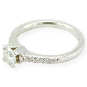 Bague de fiançailles mirage avec moissanite en or blanc