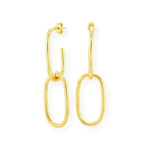 boucle d'oreille pendante prestige en or jaune 10k