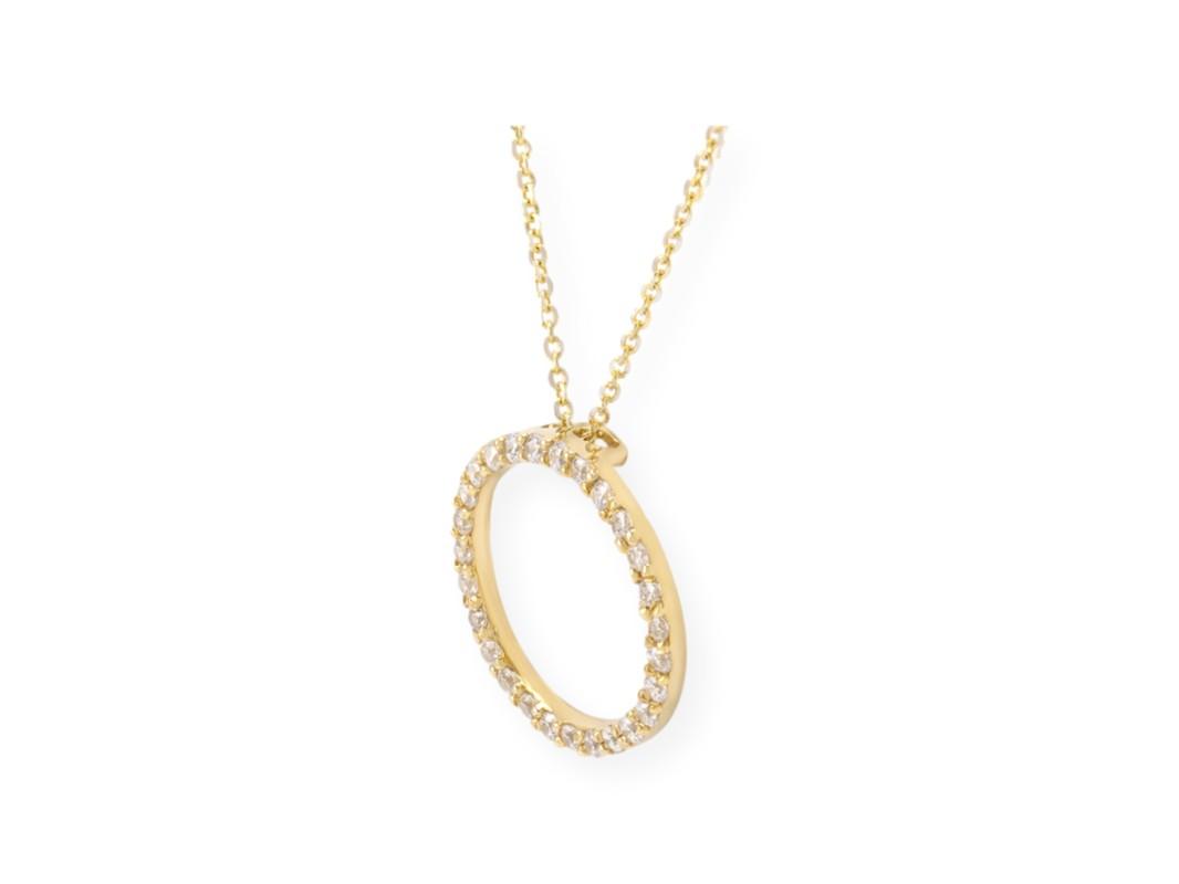 collier avec pendentif cercle de vie en or jaune 10k