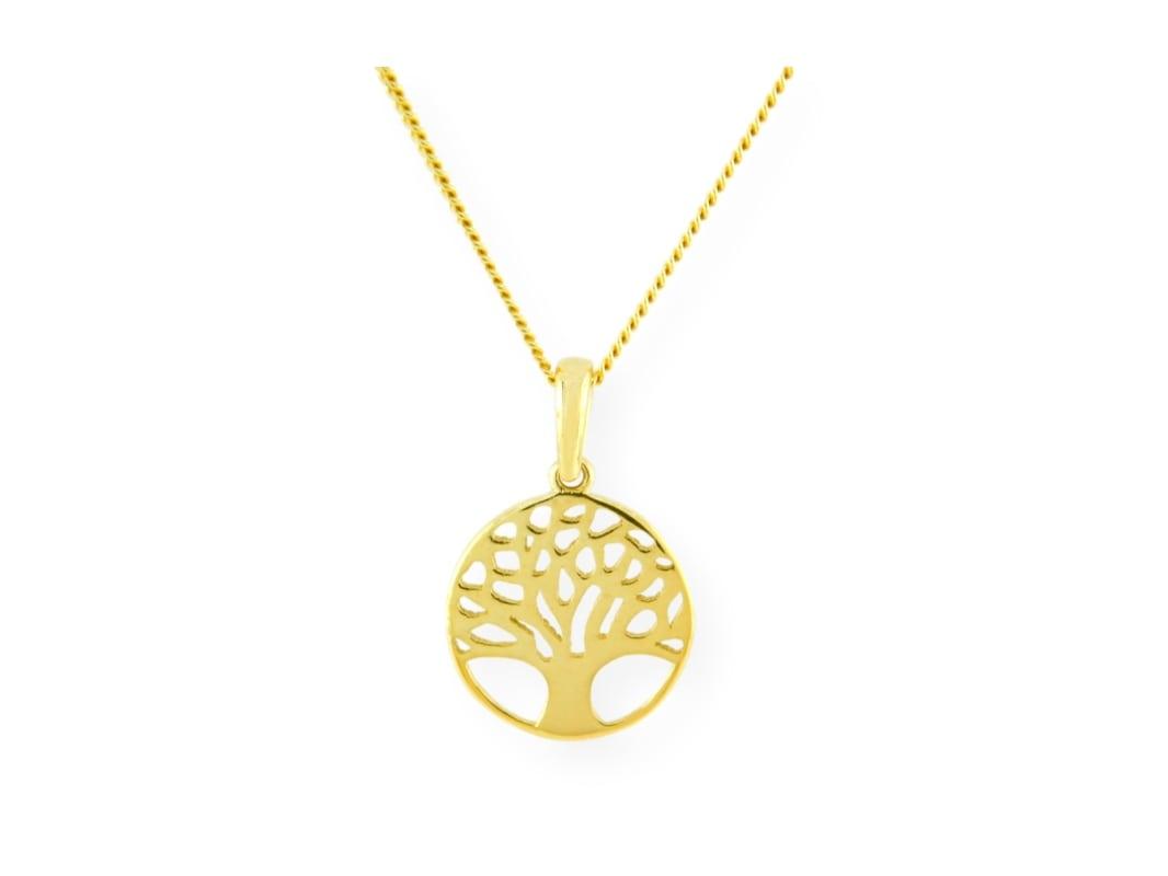 Collier avec pendentif arbre de vie en or jaune