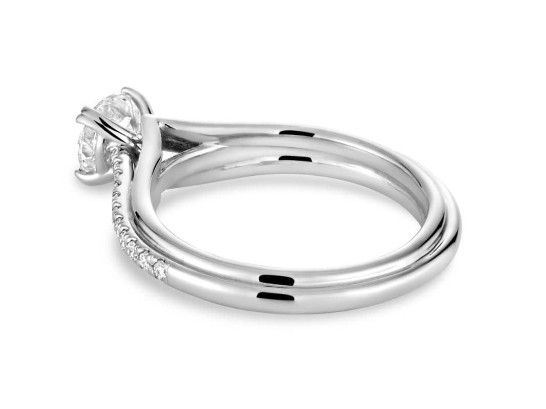 Somptueuses bague de fiançailles diamant Esméralda 14k